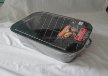 kitchen used high quality non-stick roasting pan with rack