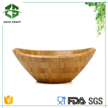 Easy to Wash Bamboo Large Wavy Salad Bowl