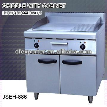 ceramic griddle, DFEH-886 griddle with cabinet