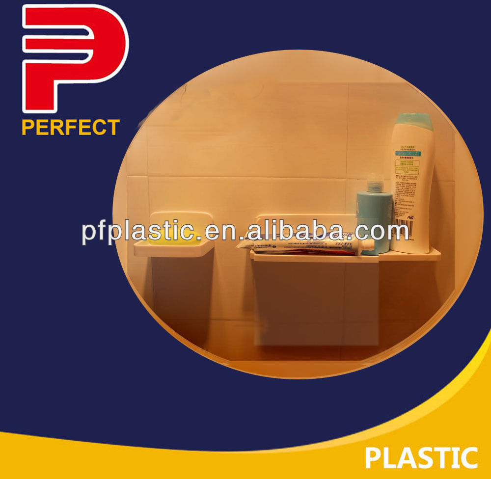 adhesive plastic bathroom shelf