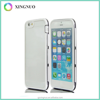 electroplated PC+TPU slim transparent phone case for iphone 6 6S