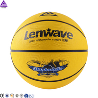 Lenwave brand high school basketball mens basketball customize your own offical weight rubber basketball