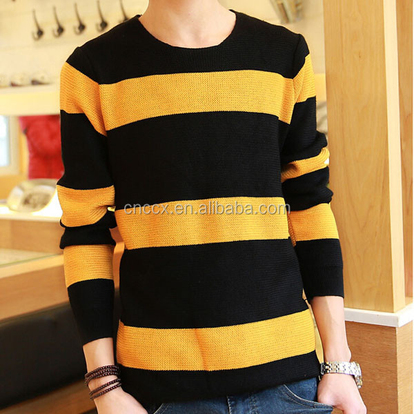 15ASW1037 Fashion stripped student pullover wool sweater design for boys
