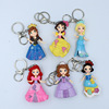 Create six ice princess hand elsa key pendant ice queen Anna doll car keychain accessories
