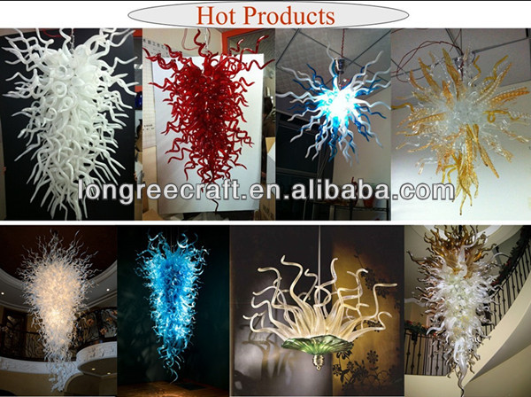 Blown murano glass chandelier high quality LED lights turkish chandelier