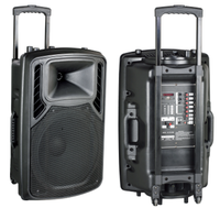 High quality outdoor pa active speaker with big power