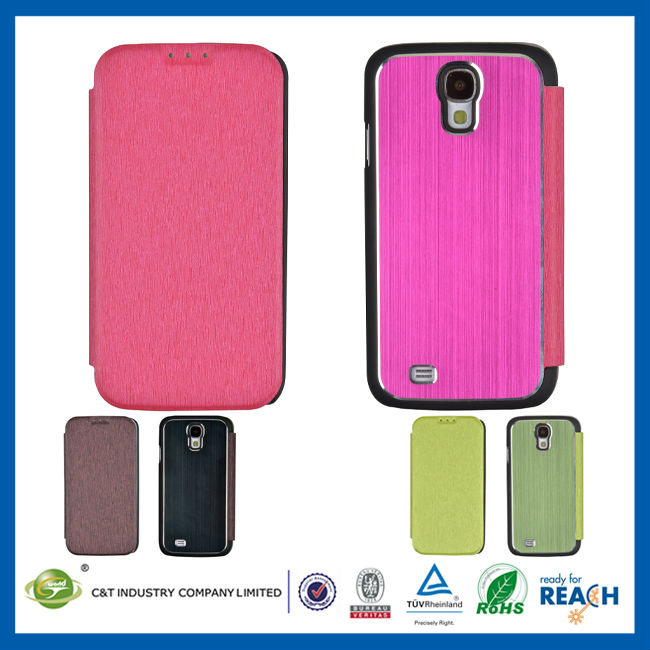 C&T Hybrid leather plastic with aluminum sticker skin case for blueberry s4 mobile phone