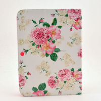 sweet flower stand leather case pouch for Galaxy Tab 3 10.1 P5200