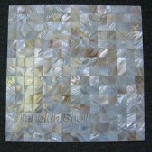 Chinese river shell mosaic seamless on mesh square natural colour 20x20mm