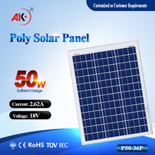 High Efficiency Solar Panel / TUV Solar Panel / Solar Module 50W