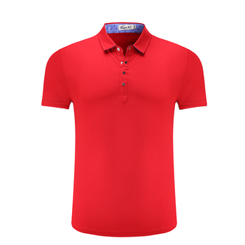 2018 guangzhou clothes factory produce high quality embroidery logo red custom polo shirts no minimum
