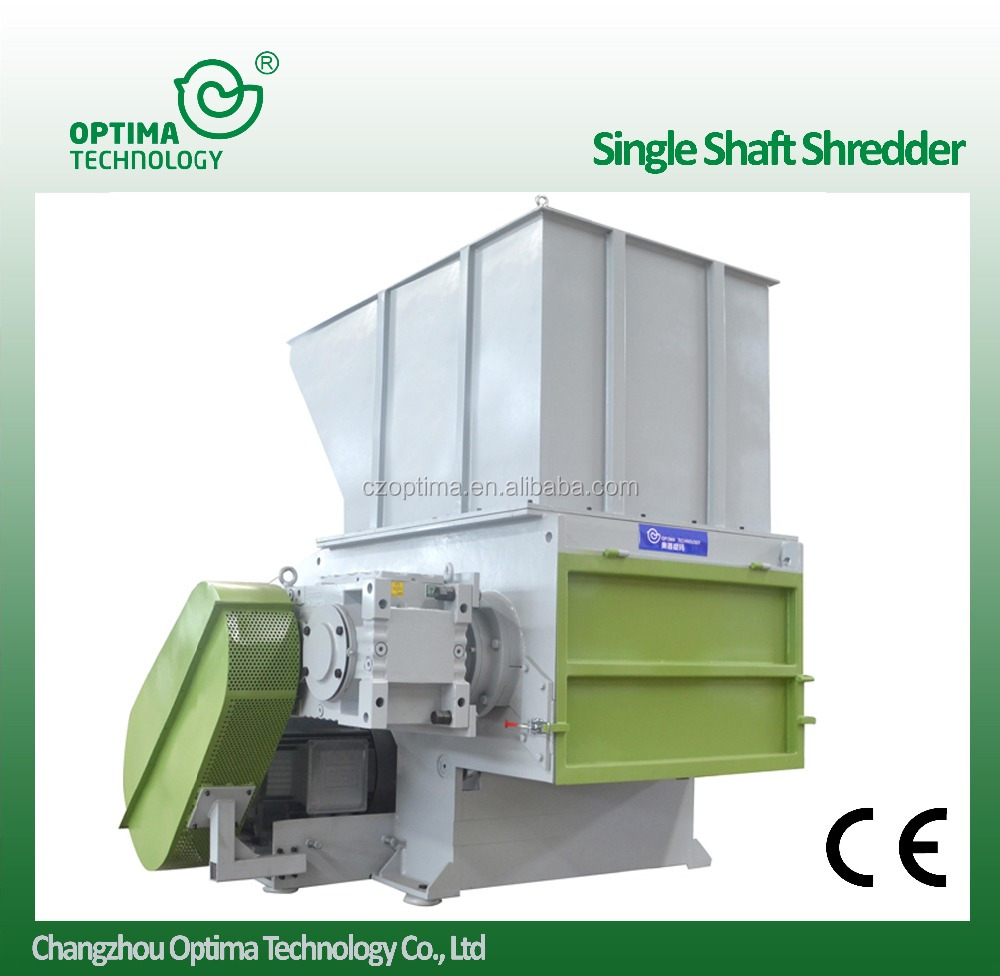 High quality OSX Single Shaft Shredder plastic rubber cable packed film recycling machine