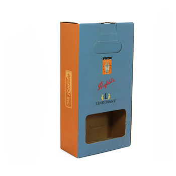 FGW004 China factory csutom Corrugated Cardboard Paper Box for Wine Two Bottle