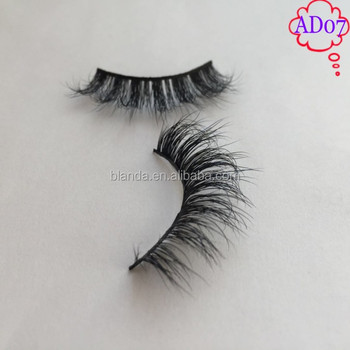 factory price own brand 100% 3d mink fur eyelashes with custom packaging