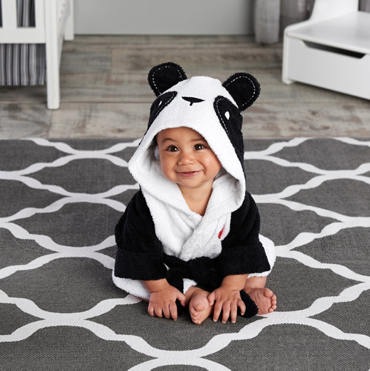 2016 autumn/winter baby night sleep robe for 3-7 years old children YUPAO-panda