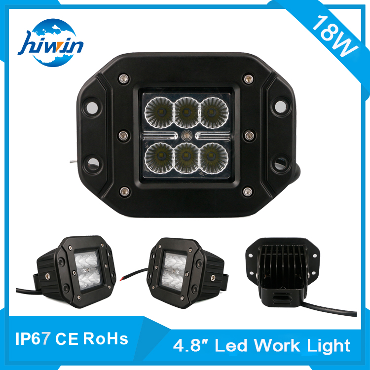 Hiwin 4.8inch 18w led flexible work lamp automotive part auto led work light cover HW-8018FC