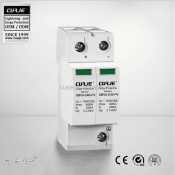 single phase Surge protector SPD 40kA 1000VDC,surge suppression device