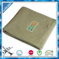 BSCI and SEDEX factory Flame retardant fabric yard Customized polar fleece airline blanket