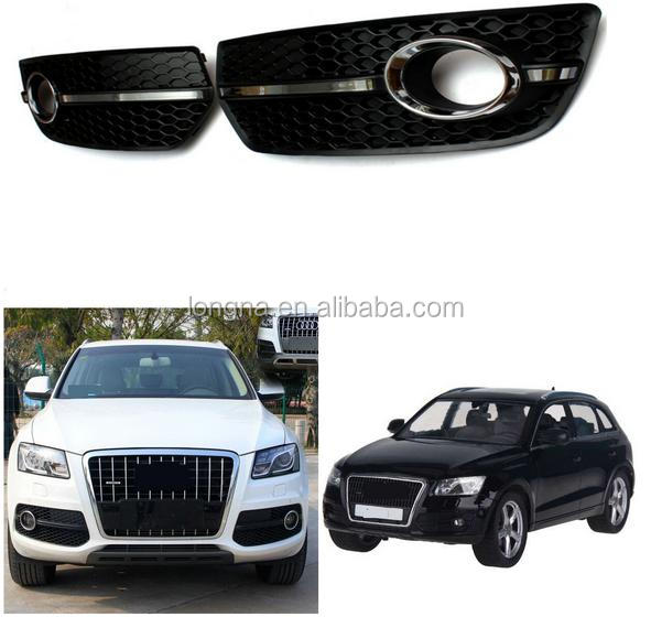 Honeycomb ABS Chrome Passenger Side Bumper Grill Fog Lamp Cover Right Side For 09-11 Audi Q5 Fog Light Grill