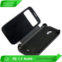 window flip leather battery extender case for galaxy s4 mini