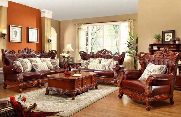 Italiaanse stijl s woonkamer meubels-antiek meubilair sets-product-ID ...