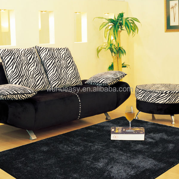 Business style black grey low pile easy cleaning office rugs