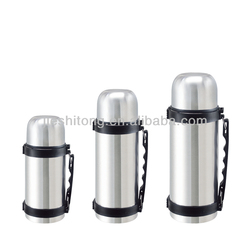 Stainless Steel Vacuum Thermos Thermal Insulated Travel Flask 1 Ltr Carry Handle