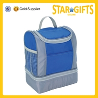 2015 Alibaba China wholesale large capacity insulated cooler lunch bag with divider