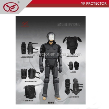 Military black cheap body protector police riot suit