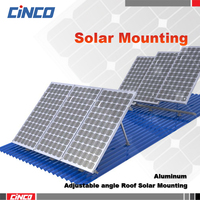Adjustable Angle Solar Panel Mounting Bracket for grid tied solar home system install 250w 260w poly solar panel