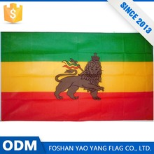 Direct Price Custom Cheap Wholesale Ethiopian Flag With Lion