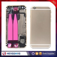 Best seller for mobile phone back housing replacement for iphone 6, gold back cover for iphone 6