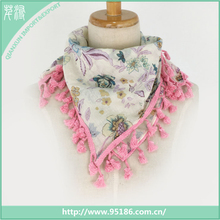 SC-123197 stamping flower special chiffon fashion women square scarf