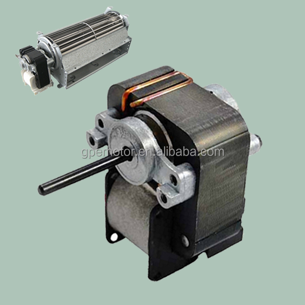 Small Electric 110V 230V 220 Volt AC Single Phase Induction C Frame Shaded Pole Motor For Refrigerator Evaporator Cross Flow Fan