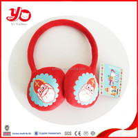 Hot selling plush earmuff toy with print, cute warmer winter earmuff for children