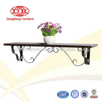 iron frame wall shelf