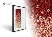 Beautiful flower designs fabric painting hand made wall hanging pictures