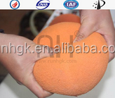 Concrete pump clearing ball accessories