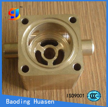 High quality custom brass bronze copper precision casting parts & CNC machined part