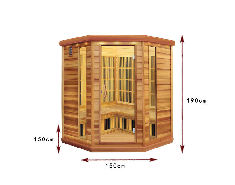 SS-450 Carbon Heater Personal Sauna Wood Types Wood Mobile Cabins
