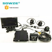 h 264 dvr 4 channel vga mobile dvr/ahd dvr car camera gps/mobile complete cctv set
