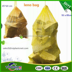 pp leno mesh bags for firewood with UV