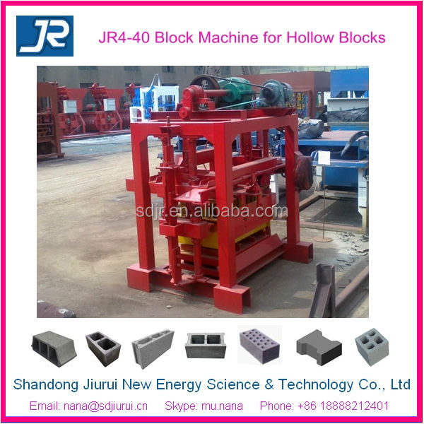 4-40 interlock block making used concrete block machine