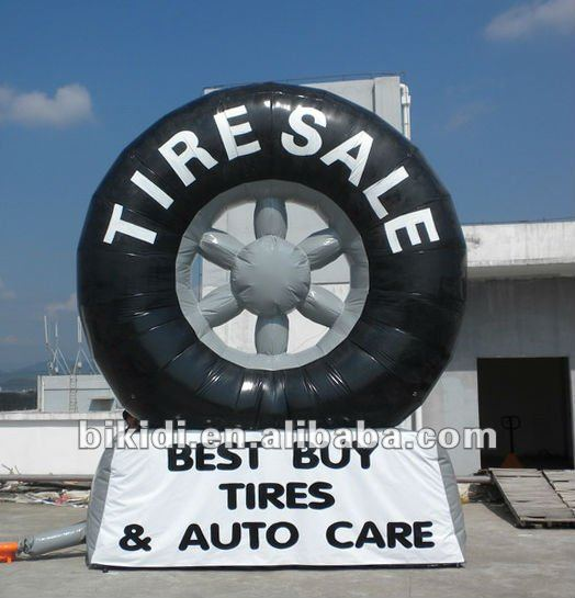 inflatable tire balloon advertising