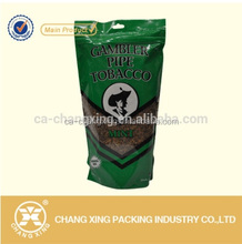 hot-sale custom printing plastic standing up cigerette bulk tobacco bag