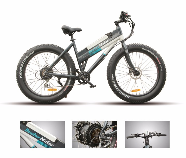 48V 500W Fashionable Sand Snow Fat Tire MTB Electric Bike 2017