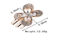 In stock Hair claw clip from Korea shiny and Crystal Hair pin hair accessory for women Pinza para cabello diademas