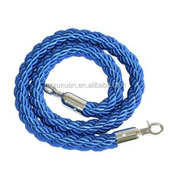 1.5meter Braided Rope for Queue Barrier Rope Stand