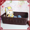 Hot sale eco-friendly handmade woven plastic rattan food large basket for storage