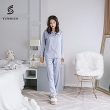 New design women silk satin doll collar 2 pieces pajamas secret treasure sleepwear